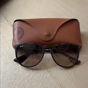 Rayban Erika Sunglasses In Tortoise Shell Brown